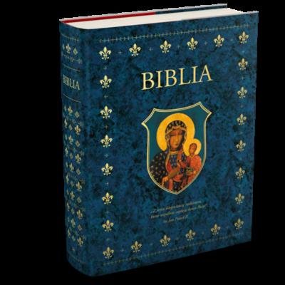 Biblia w obwolucie z Matką Boską Częstochowską